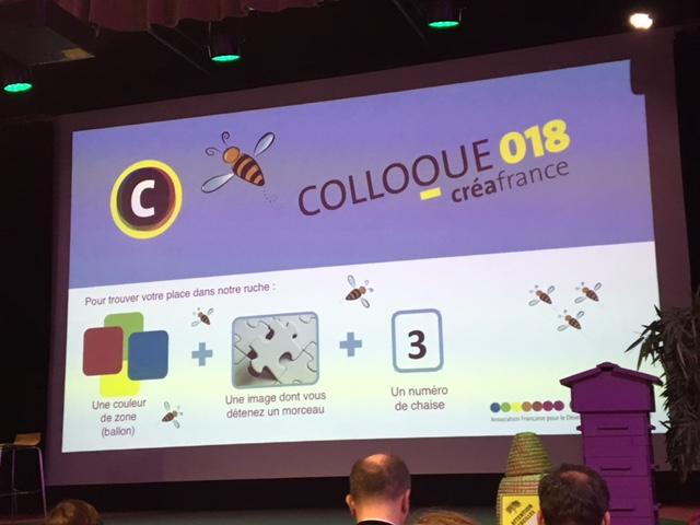 Colloque Crea France… The place to bee… pour faire le buzz :)